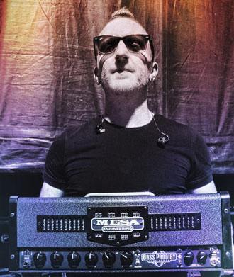 Joel Bruyere of Thousand Foot Krutch rocked his new Prodigy at Aftershock Fest