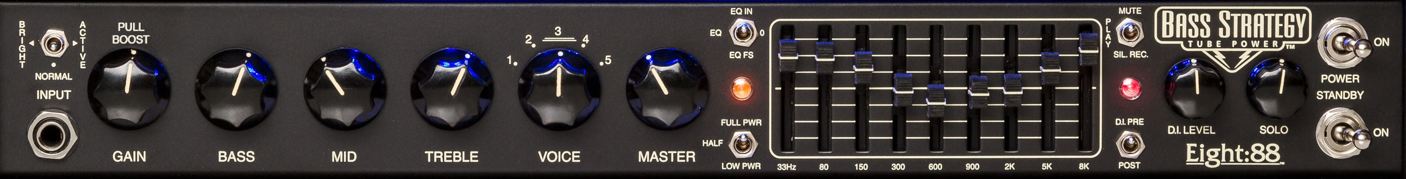 Bass Strategy Front Panel Detail