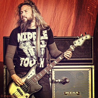Troy Sanders of Mastodon playing through his Titan & M9 Carbine heads and Road Ready 8x10 & Road Ready 4x12 cabs