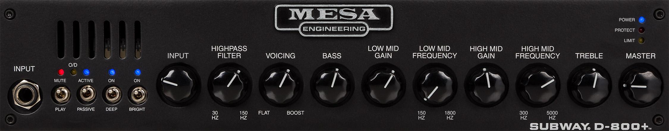 Subway D-800+ Bass Amp Front Panel