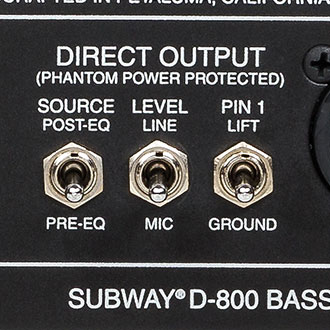 Subway D-800 Bass Amp Direct Out