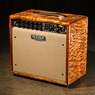 Express 5:25+ 1x12 Combo in Trans Amber Stained AAA Quilted Maple with a Cream & Tan Grille