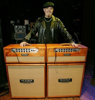 George Pajon of the Black Eyed Peas and his custom Mesa Lone Stars