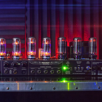The awesome glow of the Triple Rectifier power section!