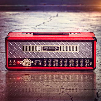 Triple Rectifier in Red Bronco with Pewter Diamond Plate