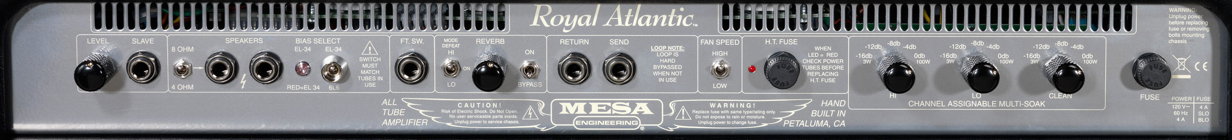 Royal Atlantic RA-100 Rear Panel