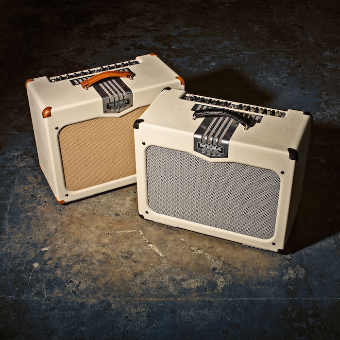TransAtlantic TA-30 1x12s in Cream Vinyl and Tan  with Gray/Black Grille/Corners.
