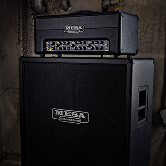 Mesa Boogie Triple Crown TC-100 on a Rectifier 4x12 cabinet.