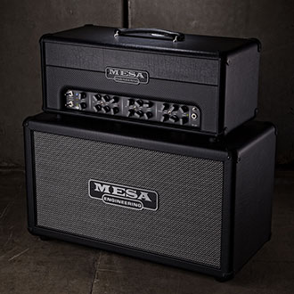 The Triple Crown TC-50 head on a Rectifier 2x12 Compact extension cabinet.