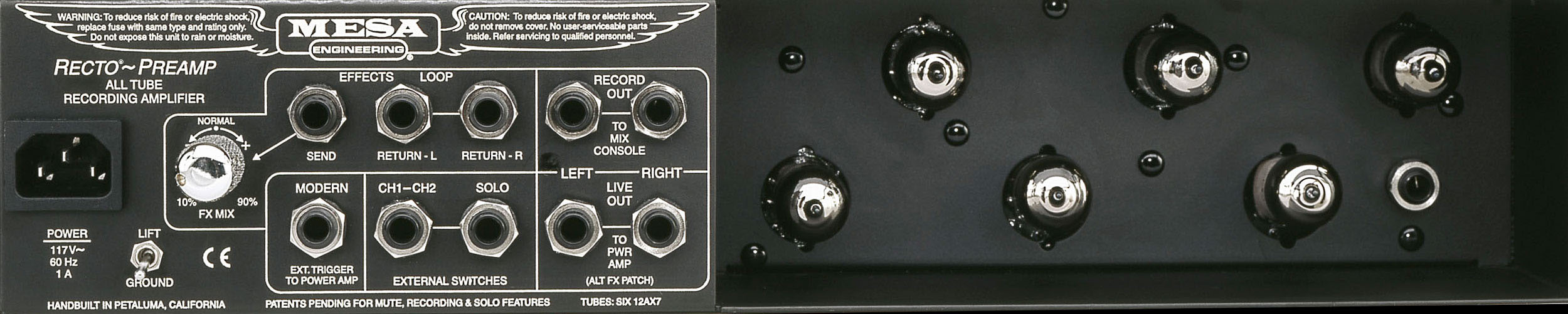 rectifier recording preamp fd2 rear panel - Mesa Boogie Rectifier Recording Preamp Rack Mount