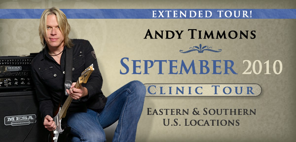 Andy Timmons September 2010 Clinic Tour Masthead