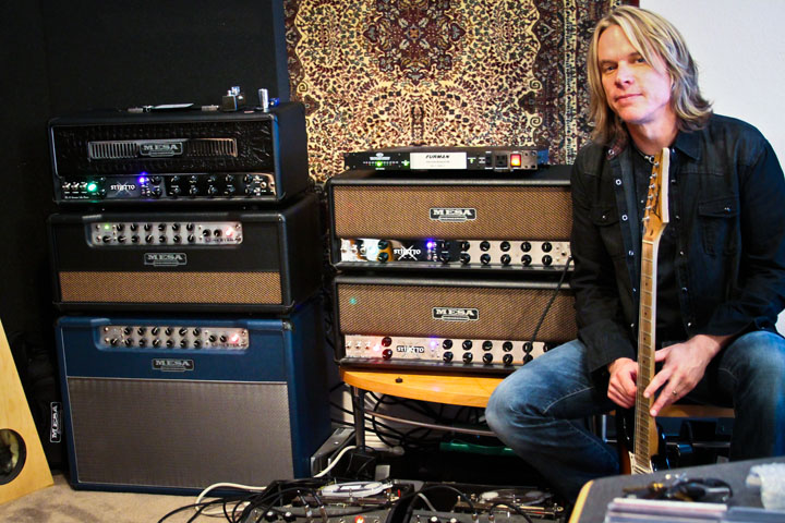 Andy Timmons and his Mesa/Boogie Lone Star and Stiletto heads