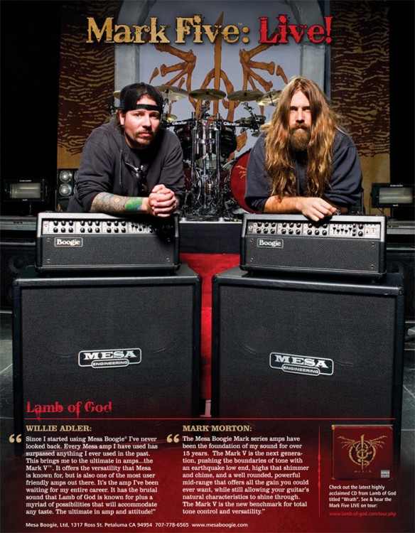 2009 Mesa & Lamb of God Mark V Ad with Wille and Mark