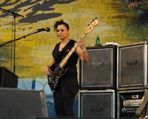 Rhonda Smith live with Jeff Beck at the New Orleans Jazz Festival