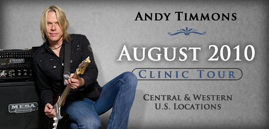 Andy Timmons / Mesa Boogie August 2010 Clinic Tour Picture