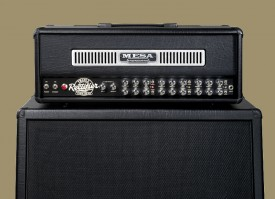 Rectifier head in Black Vinyl with Black Vinyl Front Panel and Stainless Front Vent on a Rectifier Standard 4x12 (click to enlarge)