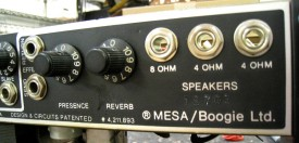 Mark IIC+ serial number beneath the speaker jacks on the rear panel