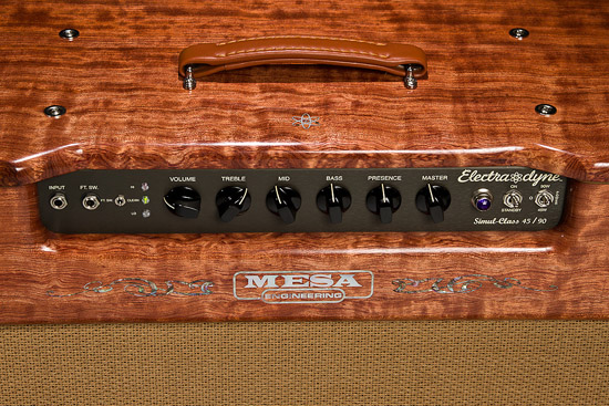 Private Reserve Quilted Bubinga Electra Dyne 1x12 Custom Mesa Engineering Logo and Atom Inlay