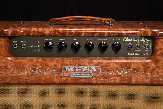 Private Reserve Quilted Bubinga Electra Dyne 1x12 Custom Mesa Engineering Logo Inlay