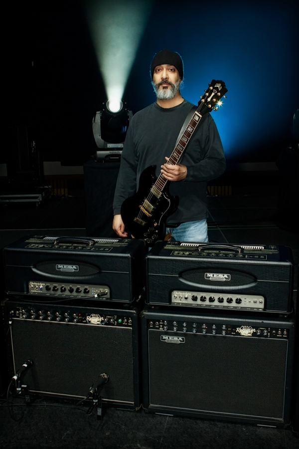 Kim Thayil and his MESA/Boogie rig on Soundgarden's 2011 Tour