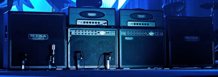 Soundgarden guitarist Kim Thayil's MESA/Boogie Electra Dyne, Tremoverb, Stiletto 4x12 rig