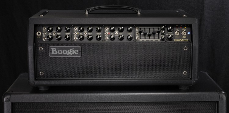 Mark V Head, front and center, on a Rectifier 4x12 Slant cab