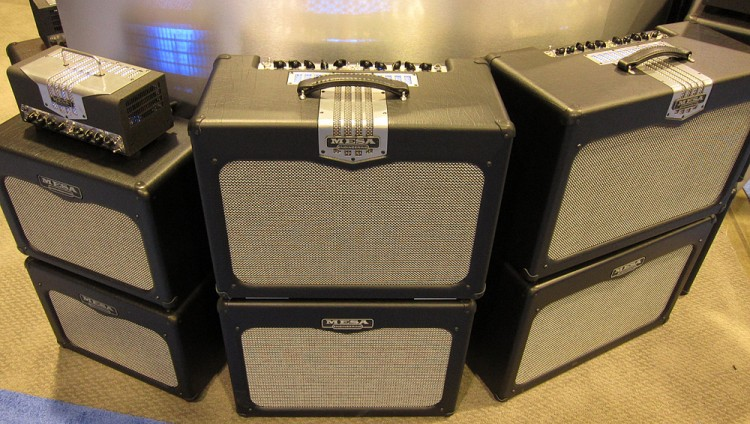 (L-R) TransAtlantic TA-15 and 1x10 Extension cabs. TA-30 1x12 and 2x12 combos and matching extension cabs