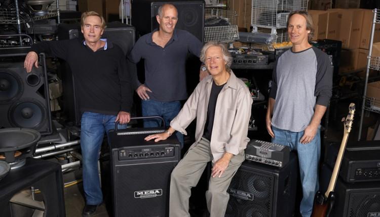 Boogie Men Behind Mesa Bass - (L-R) Dan Van Reizen, Jim Aschow, Randall Smith & Doug West