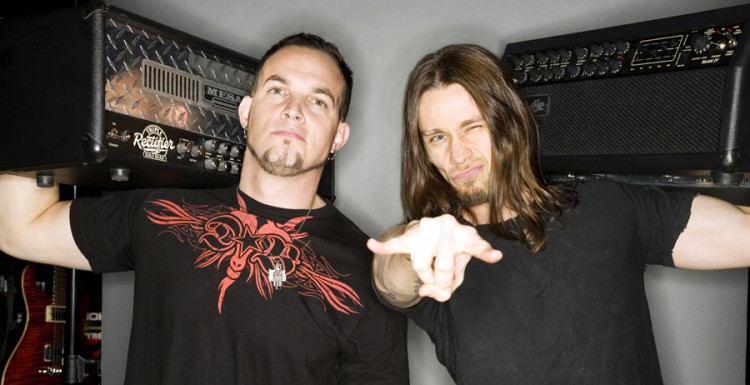 Mark Tremonti and Myles Kennedy with heavy rock tools of choice