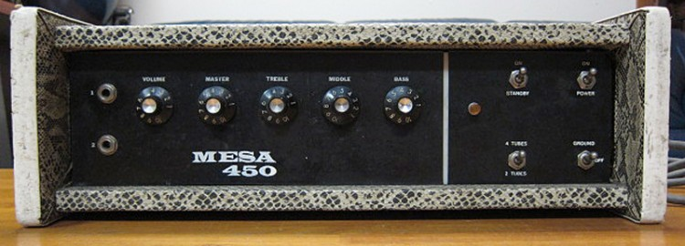 The Mesa Bass 450 - Randall's first 'paid and made' Boogie built in 1969