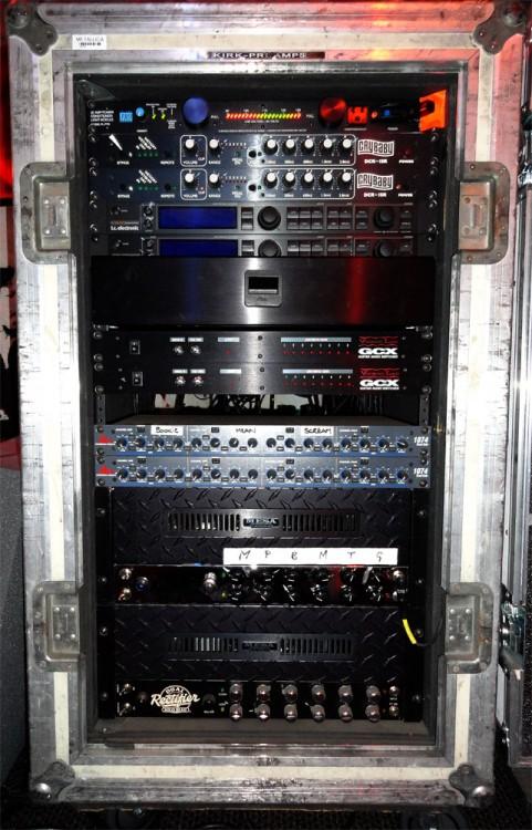 Kirk Hammett's LIVE Mesa/Boogie Rack with Rackmount Dual Rectifiers