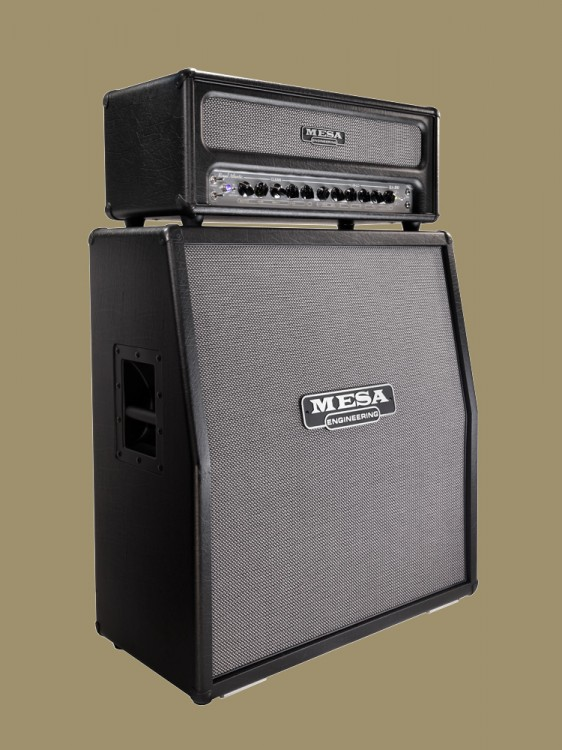 MESA/Boogie Royal Atlantic Head and 4x12 Rectifier Slant Cab in Black Vinyl and Grey and Black Weave Grille