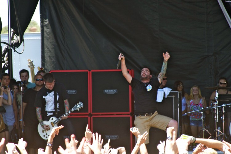 A Day to Remember Neil Westfall on Vans Warped Tour 2011