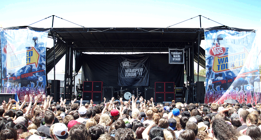 Vans Warped Tour Teggart Main Stage