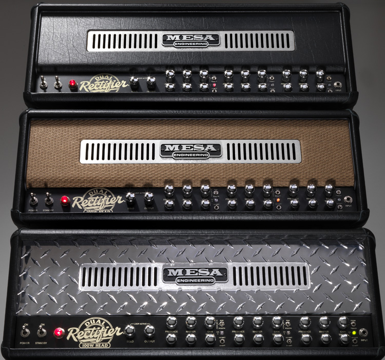 Rectifier Amp stack with Tan Grille Recto head in the middle