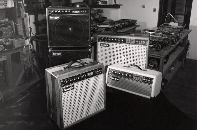 Various Mark I amps circa 1978 in the original Lagunitas shop