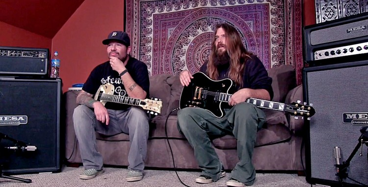 Lamb of God's Willie Adler & Mark Morton with their Mark V and RA-100 rigs