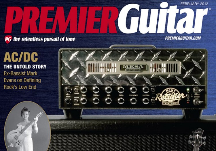 The Mini-Rectifier gets the front cover of Premier Guitar Magazine