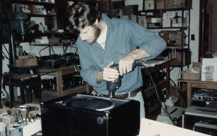 MESA Founder, Designer and President Randall Smith Assembling a Mark Series Combo Circa Early 1980s