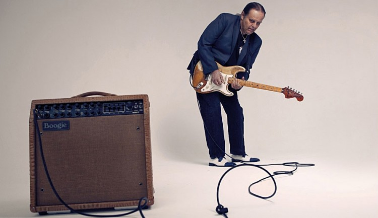 Walter Trout and one of his favorite Boogies - A Mark IV combo in Butterscotch Croc (click to enlarge)