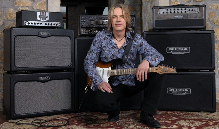 Andy Timmons with his Mesa TransAtlantic TA-30, Lone Star and Stiletto heads (click to enlarge)
