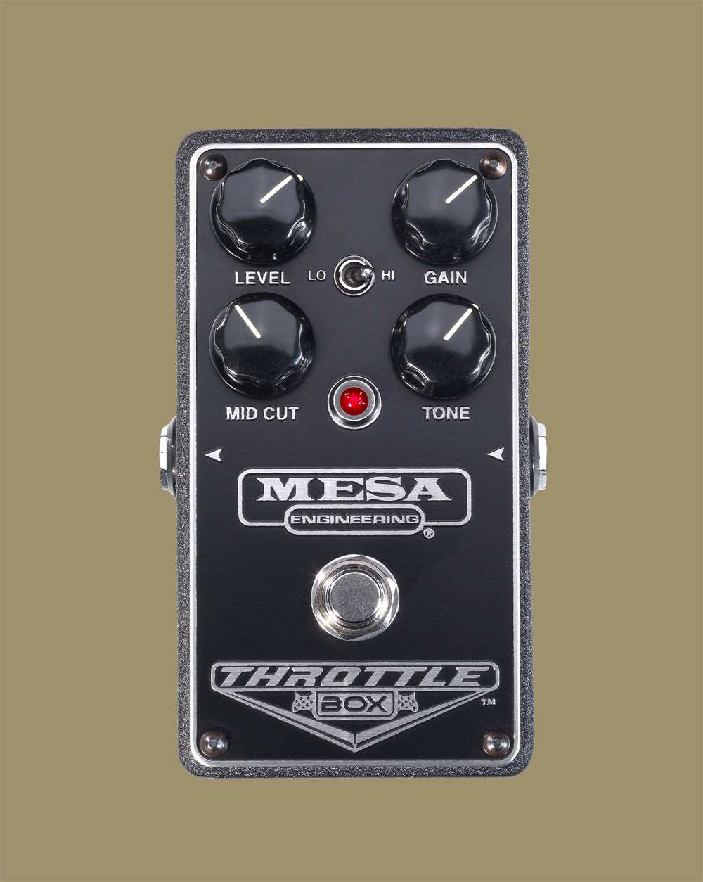 The Mesa Throttle Box High Gain Distortion Pedal