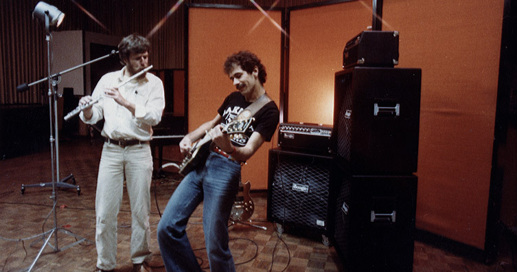Carlos Santana and Randall Smith Jammin' Circa 1978 (click to enlarge)
