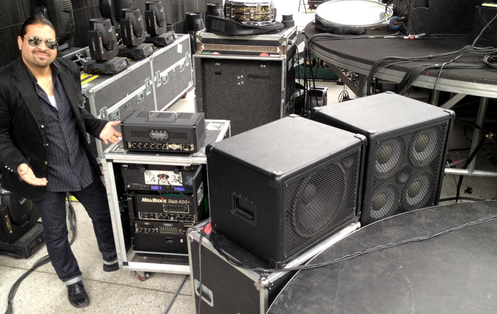 Hector Maldonado and Mesa Bass Rig with Prototype Prodigy Bass amp