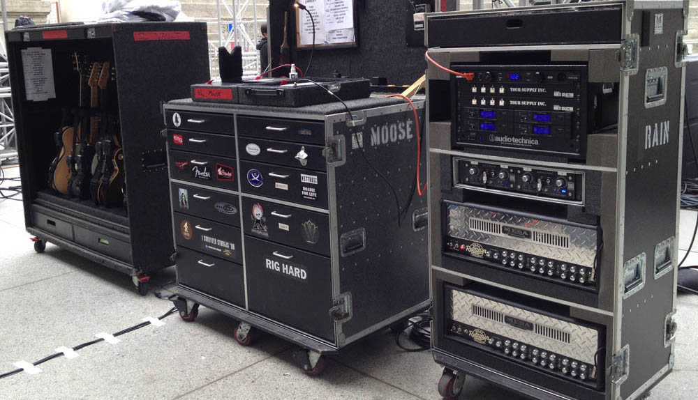 Jimmy Stafford's Gear Rig and Mesa Dual Rectifier Rack 2012