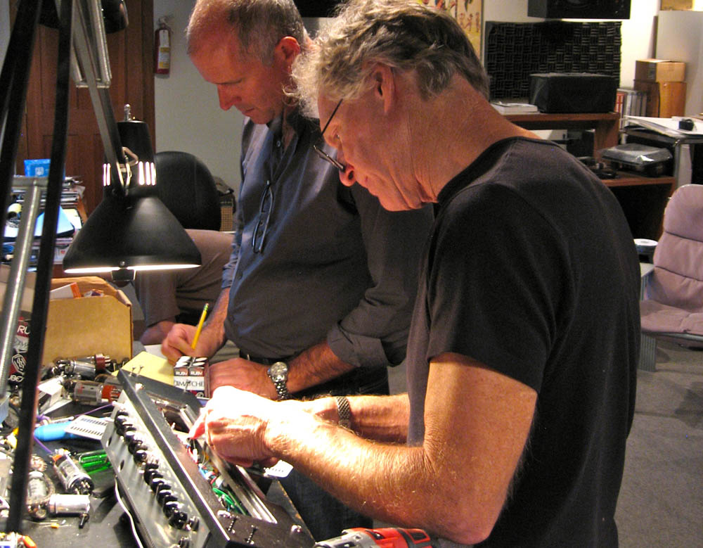 Randall Smith and Vice-President Jim Aschow 'on the bench' in the Tone Lounge designing the TransAtlantic TA-30