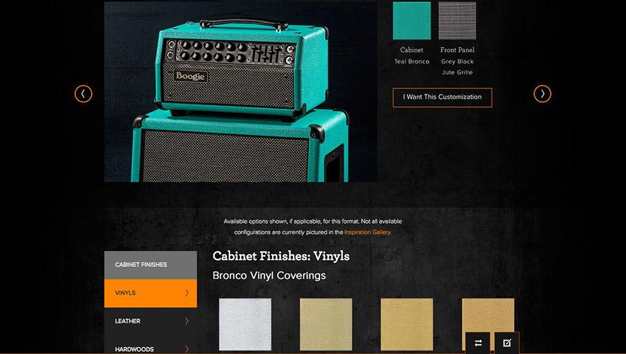 MESA/Boogie Website Design Gallery