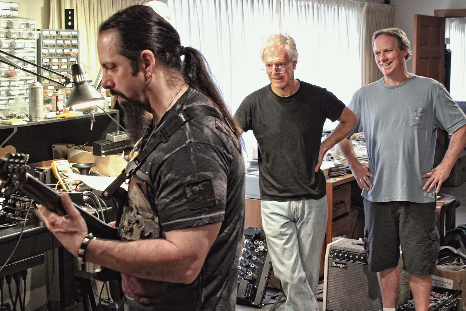 John Petrucci Playing the Mark Five: 25 Prototype with Randall Smith and Doug West