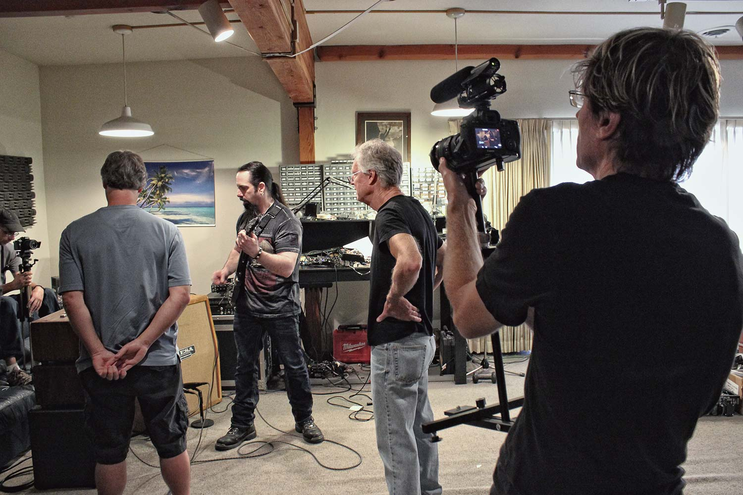 Filming John Petrucci at the Mesa Factory early 2014