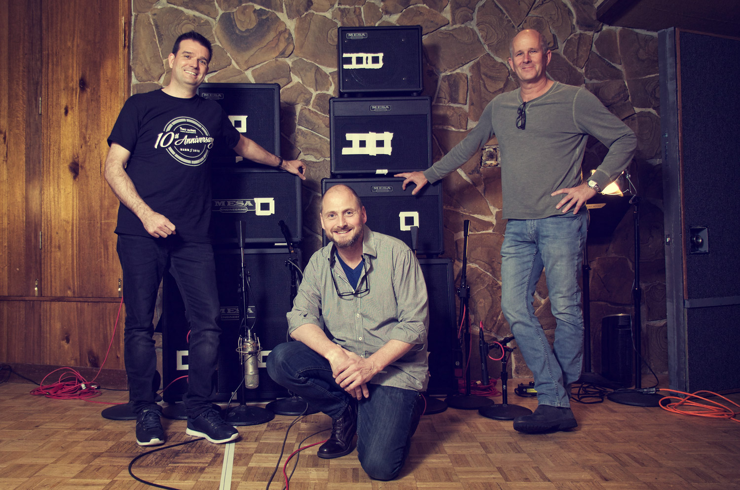 Guillaume Pille - CEO of Two-Notes Audio Engineering (left), Sean Beresford -Capture Master (center), Jim Aschow - Executive Vice President of MESA/Boogie (right)